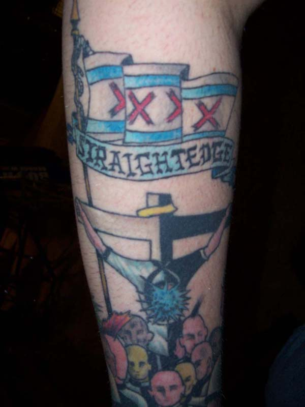Do you think it's ironic when straight-edge kids have XXX tattoos on them to